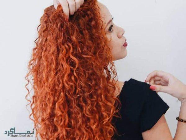 انواع رنگ موی نارنجی برای مدل موی زنانه جدید