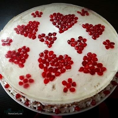 چیز کیک انار مجلسی
