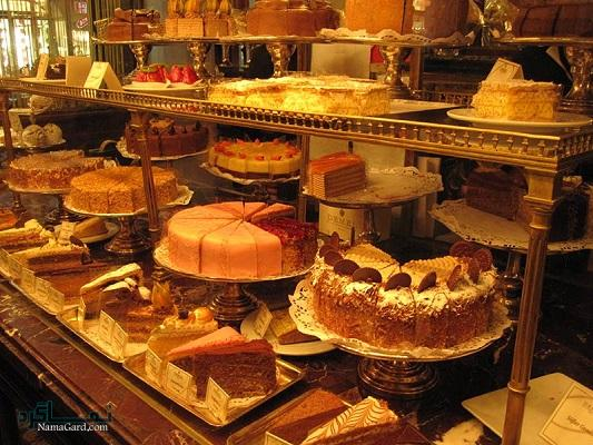 جدول انواع کیک و شیرینی