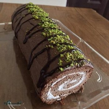 طرز تهیه رولت شکلاتی + تزیین