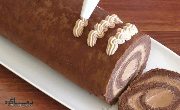 طرز تهیه رولت شکلاتی خوش طعم