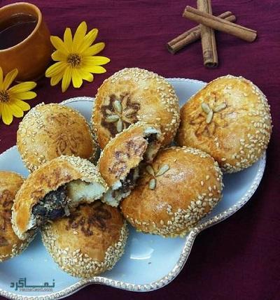 طرز تهیه نان خرمایی مقوی + تزیین