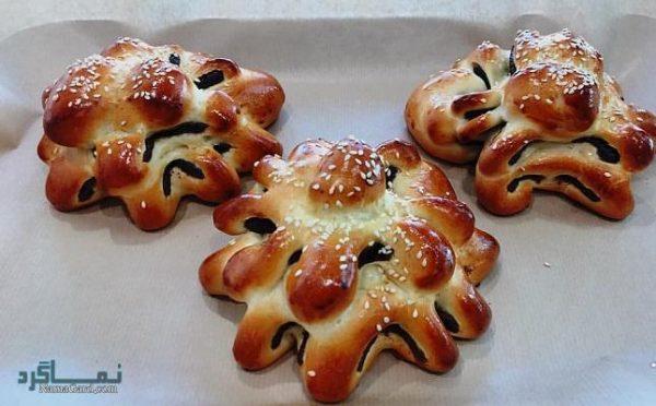 طرز تهیه نان خرمایی + تزیین