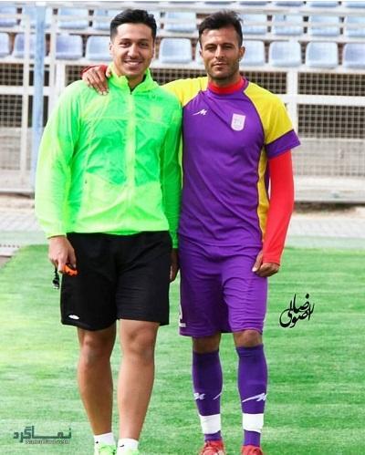 بیوگرافی محمد طیبی بازیکن فوتبال + تصاویر او و همسرش