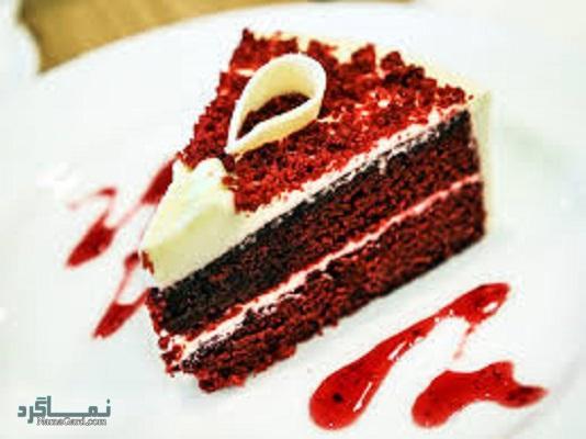 طرز تهیه کیک مخملی عاشقانه شیک