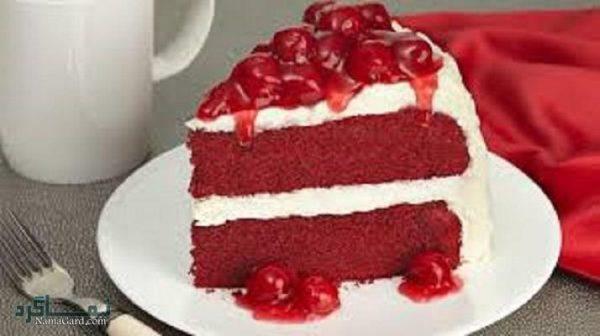 کیک مخملی عاشقانه شیک