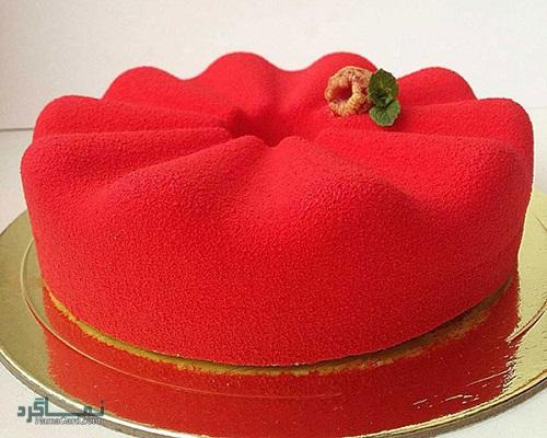 طرز تهیه کیک مخملی عاشقانه زیبا + فیلم آموزشی