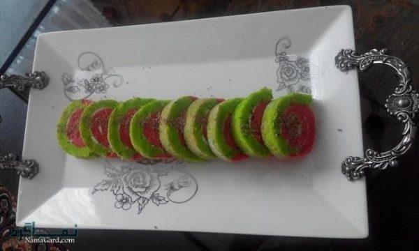 طرز تهیه رولت هندوانه زیبا + تزیین