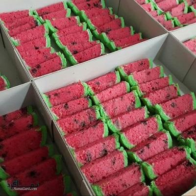طرز تهیه رولت هندوانه یلدا شیک + تزیین