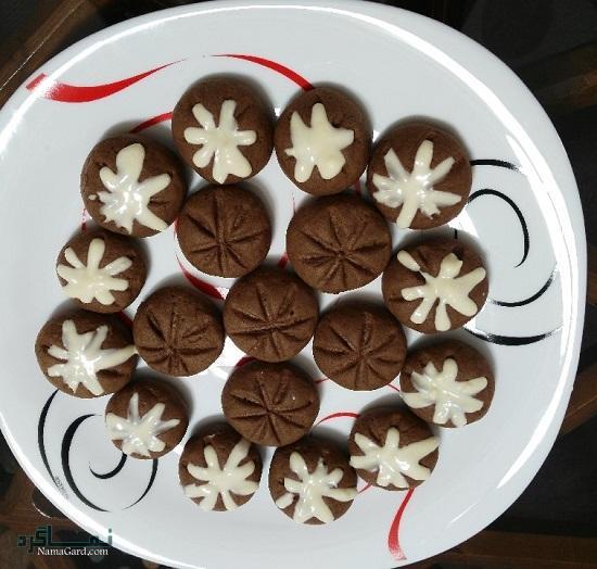 طرز تهیه شیرینی شکلاتی خوشمزه + تزیین