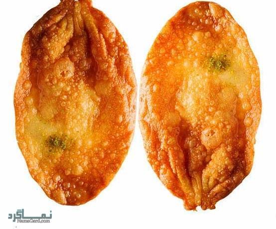 طرز تهیه شیرینی گوشفیل مجلسی + تزیین