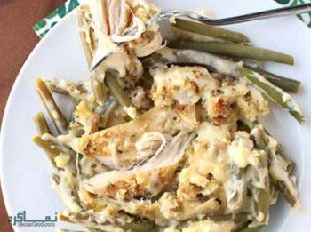 آموزش خوراک مرغ با پنیر خامه ای لذیذ و دلچسب