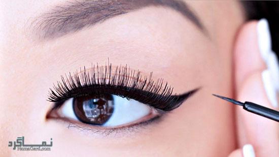 آرایش چشم های گرد