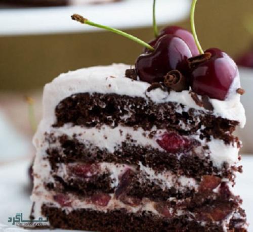 طرز تهیه کیک جنگل سیاه خوشمزه + تزیین