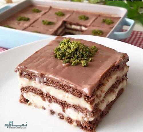 کیک بیسکویت لطیف