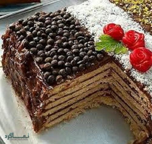 طرز تهیه کیک بیسکویت شیک