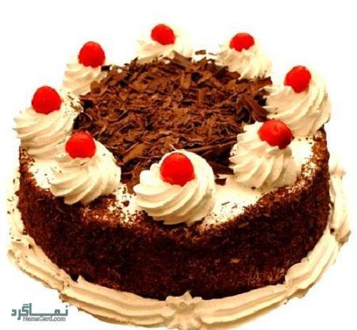 کیک جنگل سیاه خوش طعم + تزیین