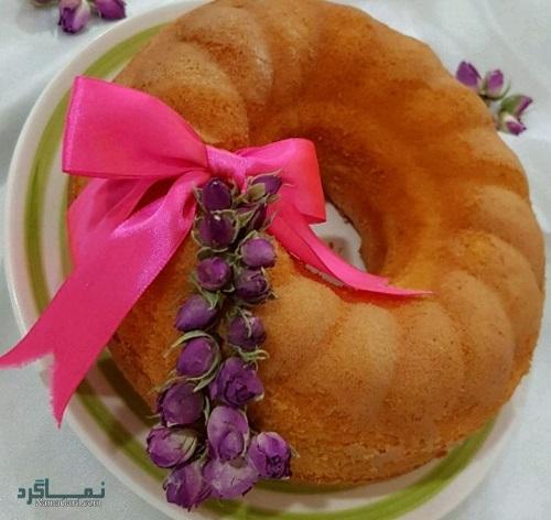 طرز تهیه کیک ماست خوشمزه + تزیین