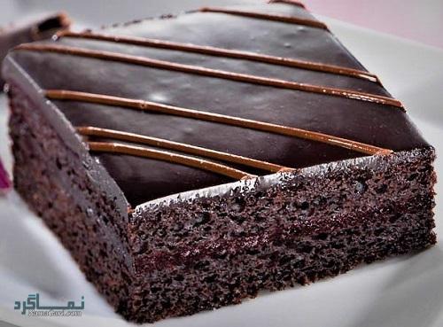 کیک شکلاتی مجلسی + تزیین