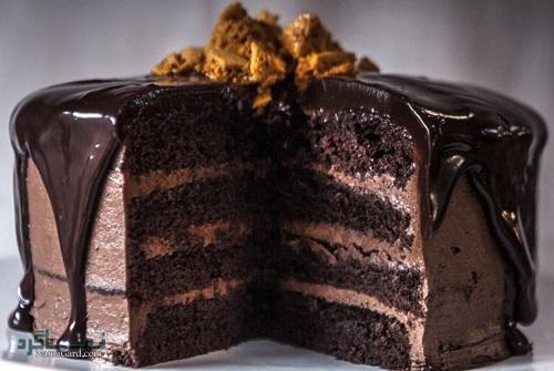 کیک شکلاتی مجلسی + فیلم آموزشی