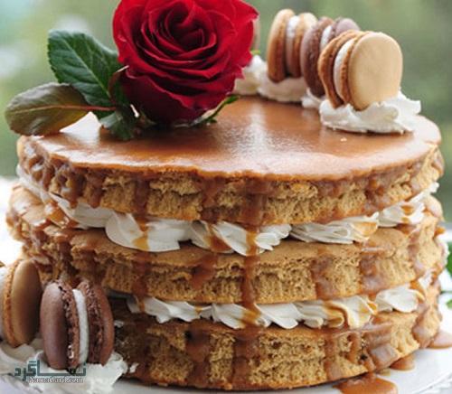 طرز تهیه کیک قهوه ساده