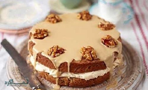 طرز تهیه کیک قهوه خوشمزه + تزیین