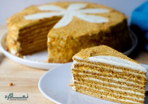 کیک عسل خوشمزه