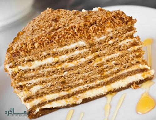 دستور پخت کیک عسل شیک