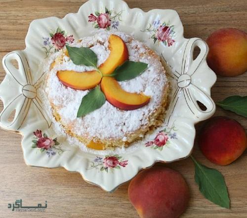 کیک هلو ساده