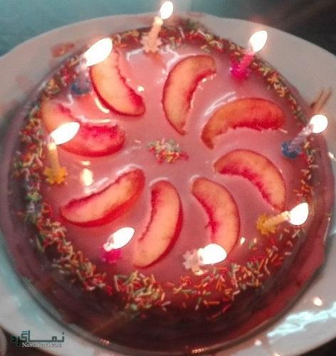 کیک هلو شیک