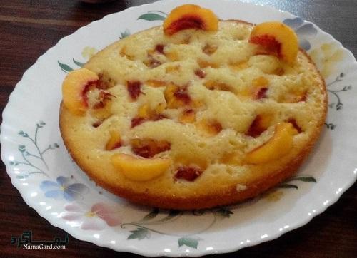 طرز تهیه کیک هلو شیک + تزیین