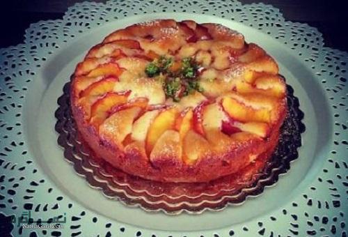 طرز تهیه کیک هلو خوشمزه + تزیین