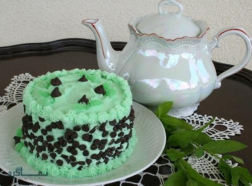 طرز تهیه کیک نعناع خوشمزه