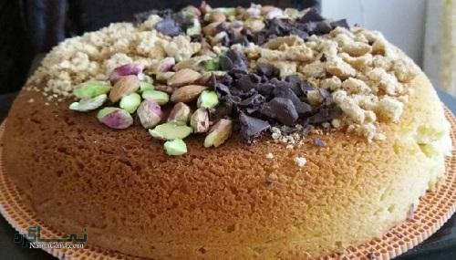 طرز تهیه کیک قابلمه ای ساده + تزیین