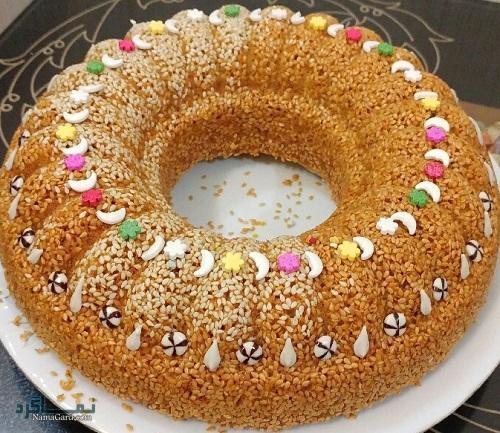 طرز تهیه کیک کنجد خوشمزه