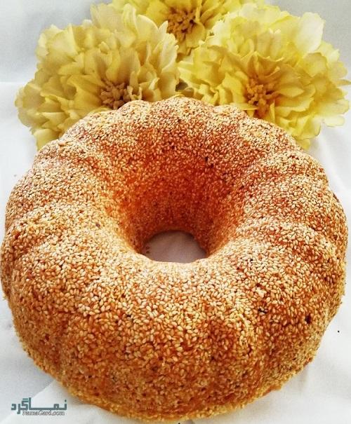 طرز تهیه کیک کنجد مجلسی