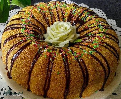 کیک کنجد خوش طعم