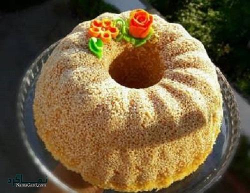 طرز تهیه کیک کنجد خوش طعم + فیلم آموزشی