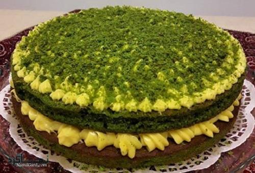 طرز تهیه کیک اسفناج مجلسی + تزیین