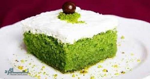 طرز تهیه کیک اسفناج ساده + تزیین