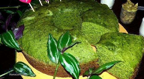 کیک اسفناج خوشمزه + تزیین