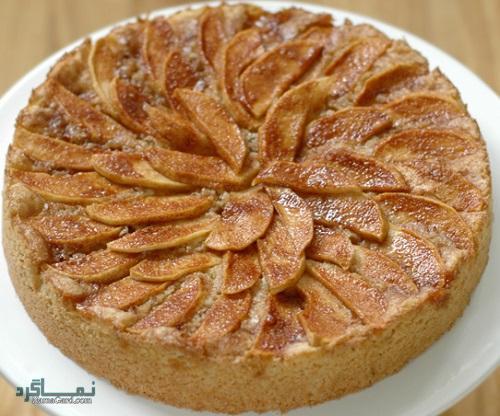 کیک سیب خوش طعم + تزیین