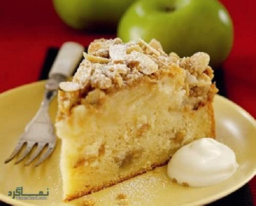 طرز تهیه کیک سیب خوشمزه + تزیین