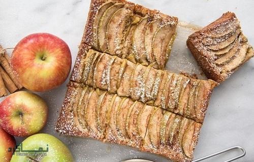 طرز تهیه کیک سیب مجلسی + تزیین
