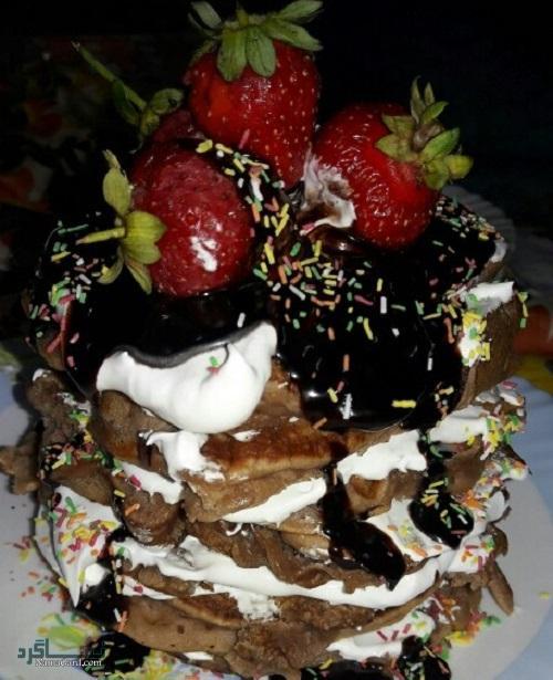 پن کیک شکلاتی| طرز تهیه پن کیک شکلاتی ساده + فیلم آموزشی