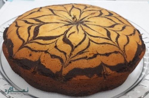 طرز تهیه کیک زبرا خوشمزه + تزیین