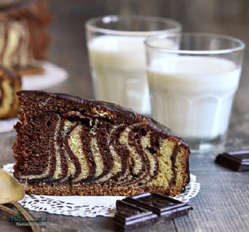 طرز تهیه کیک زبرا ساده