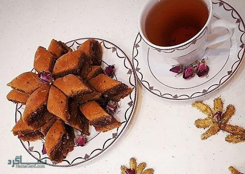 طرز تهیه نان کماج مجلسی + تزیین