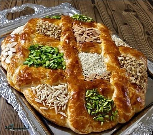 طرز تهیه نان کماج خوشمزه + تزیین