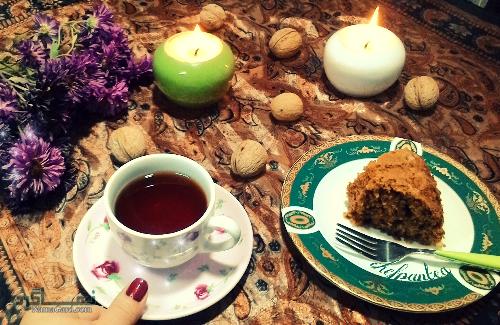 طرز تهیه کیک گردویی خوشمزه + تزیین